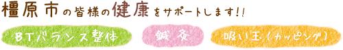 橿原市・橿原吉祥寺鍼灸接骨院は、BTバランス整体・鍼灸・吸い玉(カッピング)で橿原市の皆様の健康をサポートします!!